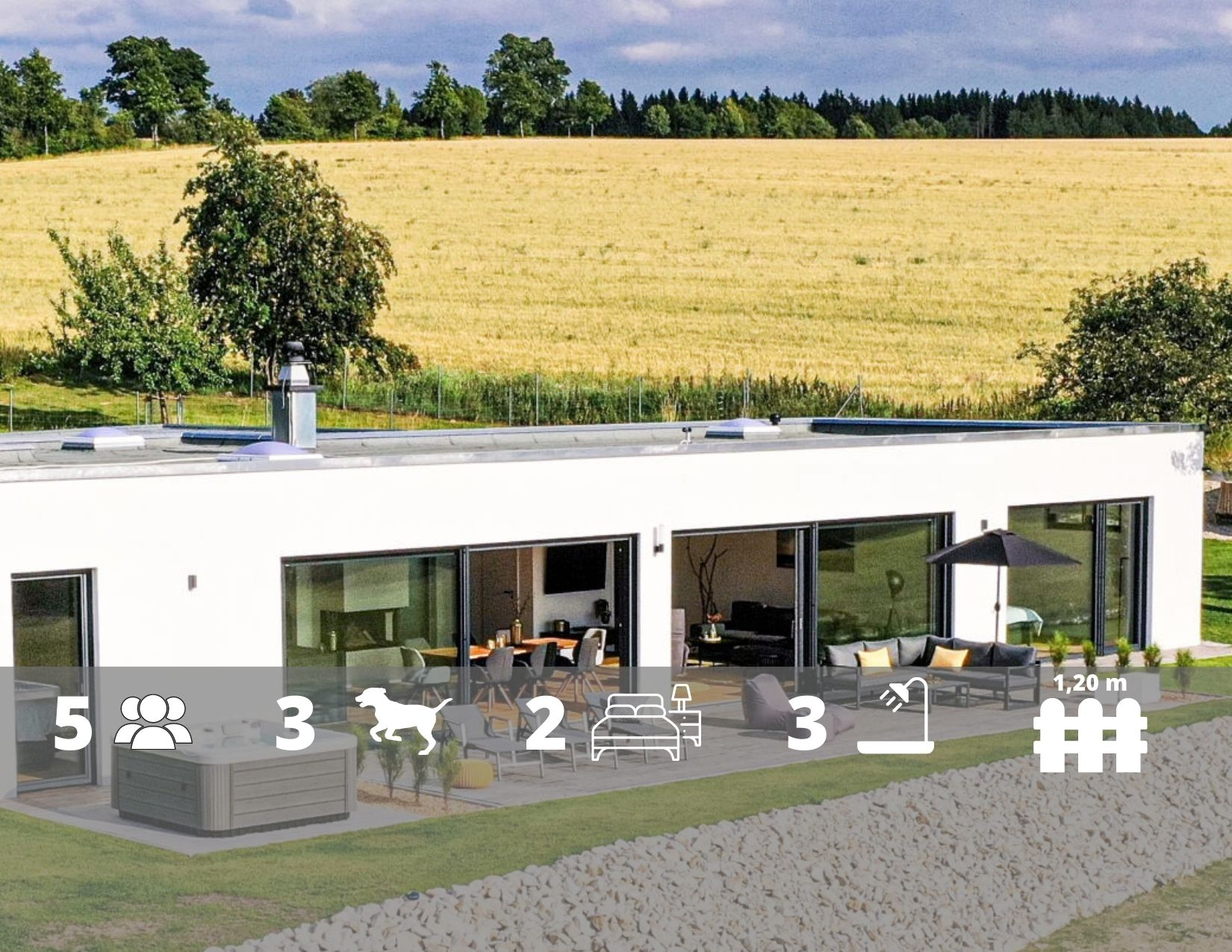 Panorama-Ferienhaus 'FichtelZeit' im Fichtelgebirge in Bayern