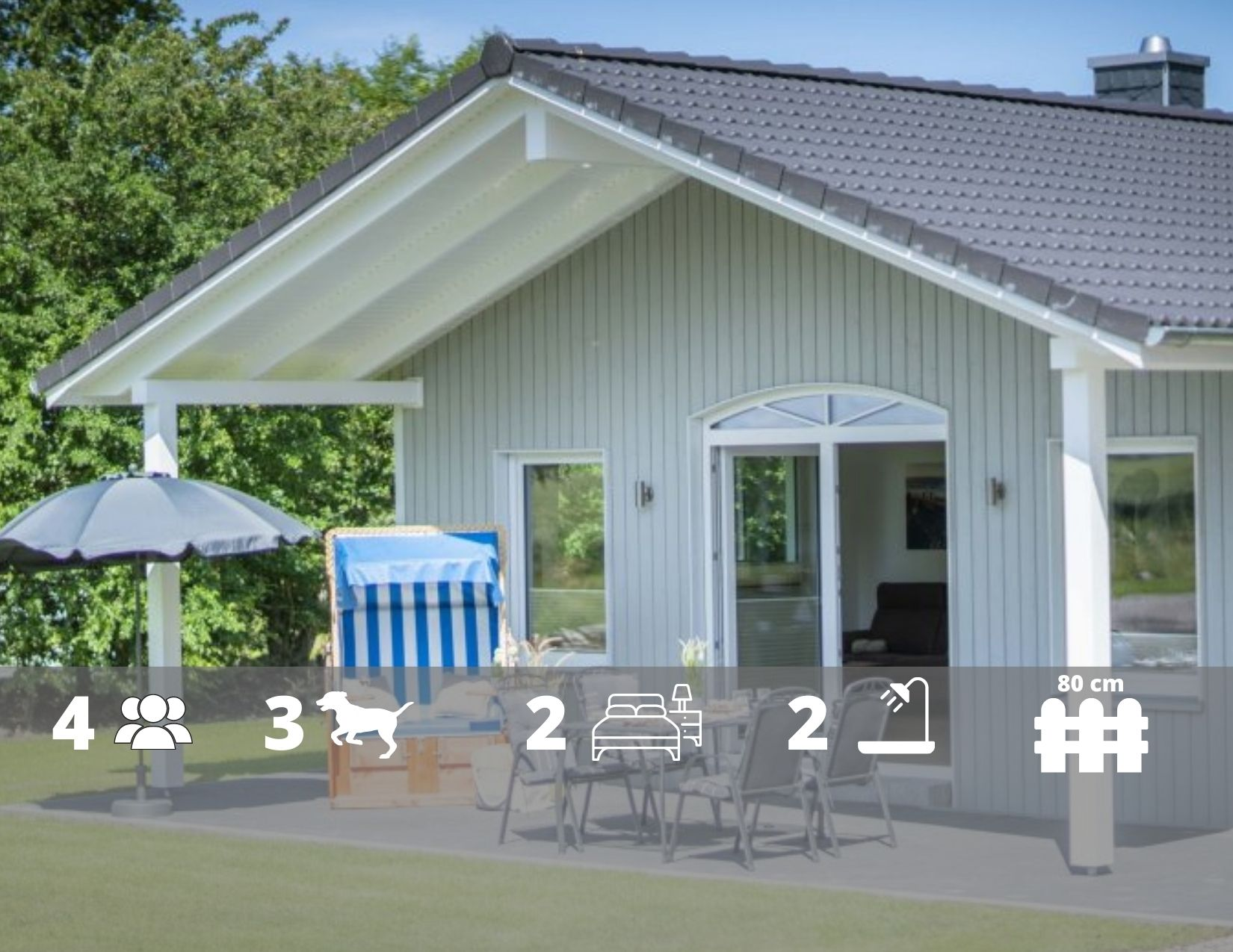 """Ferienhaus """"Haus Liebevoll"""", Kamin, WLAN, Zaun auf Fehmarn"""