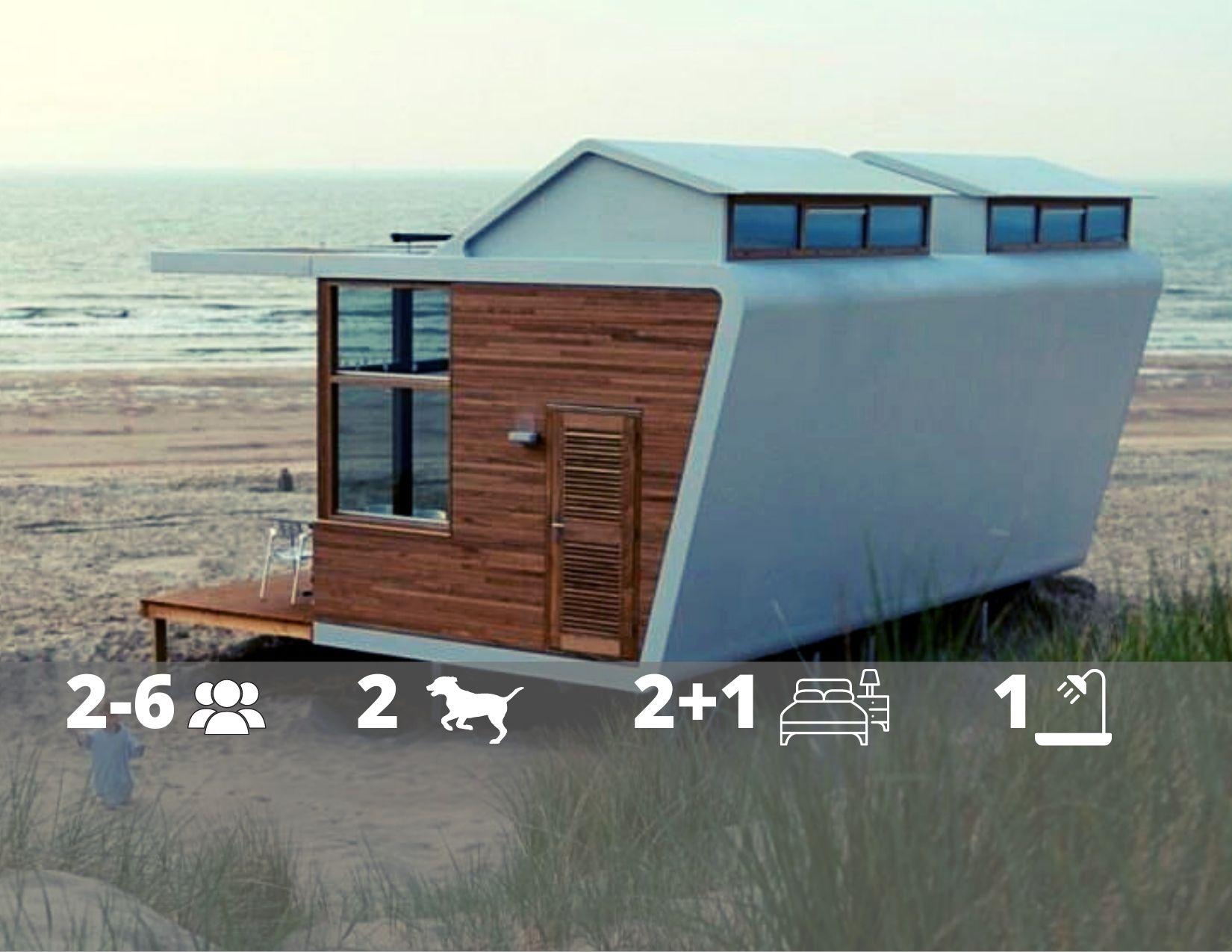 Strandhaus Cadzand-Bad - Schlafen am Strand in Zeeland