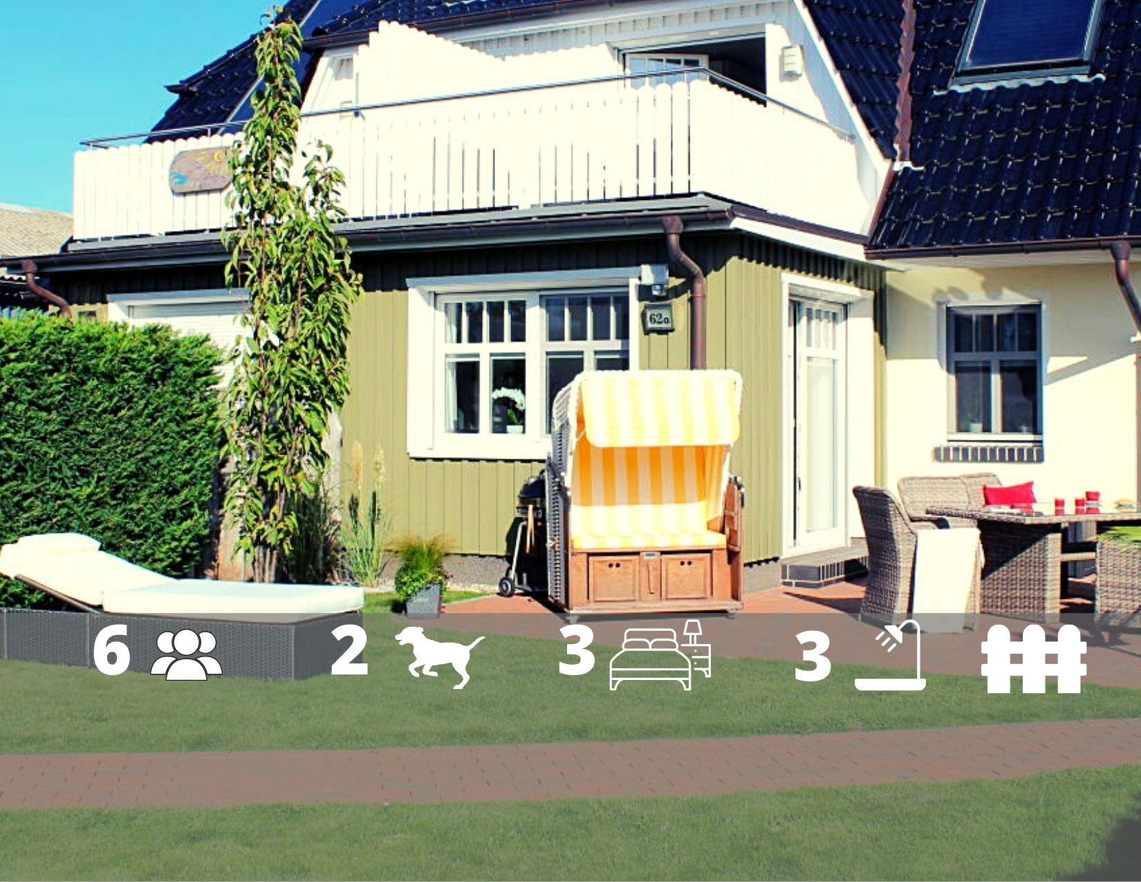 Ferienhaus Mee(h)rZeit, Sauna, Kamin., WLAN, eingz. Garten in Zingst