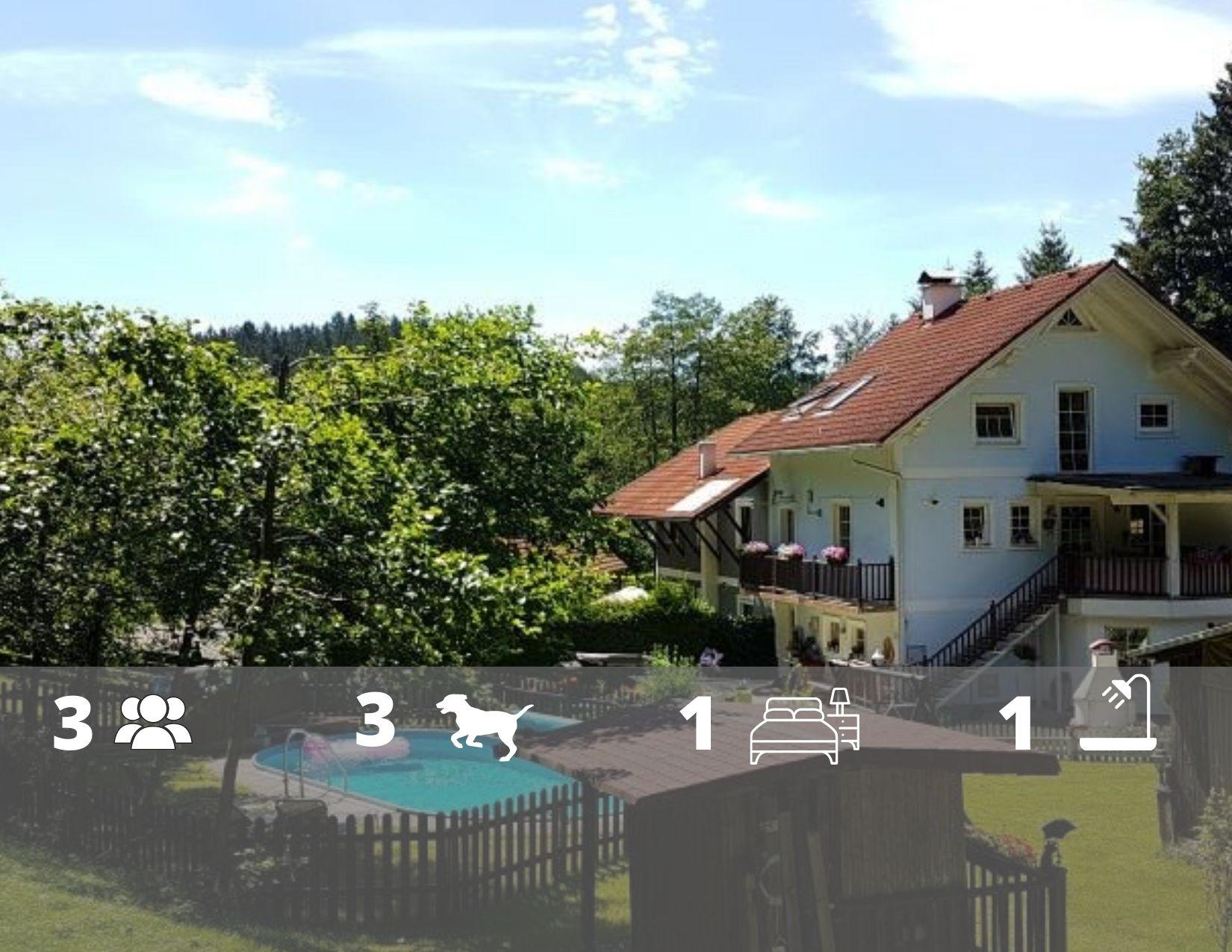Ferienwohnung Wald Kobel mitten im Wald in Oberösterreich , Swimmingpool