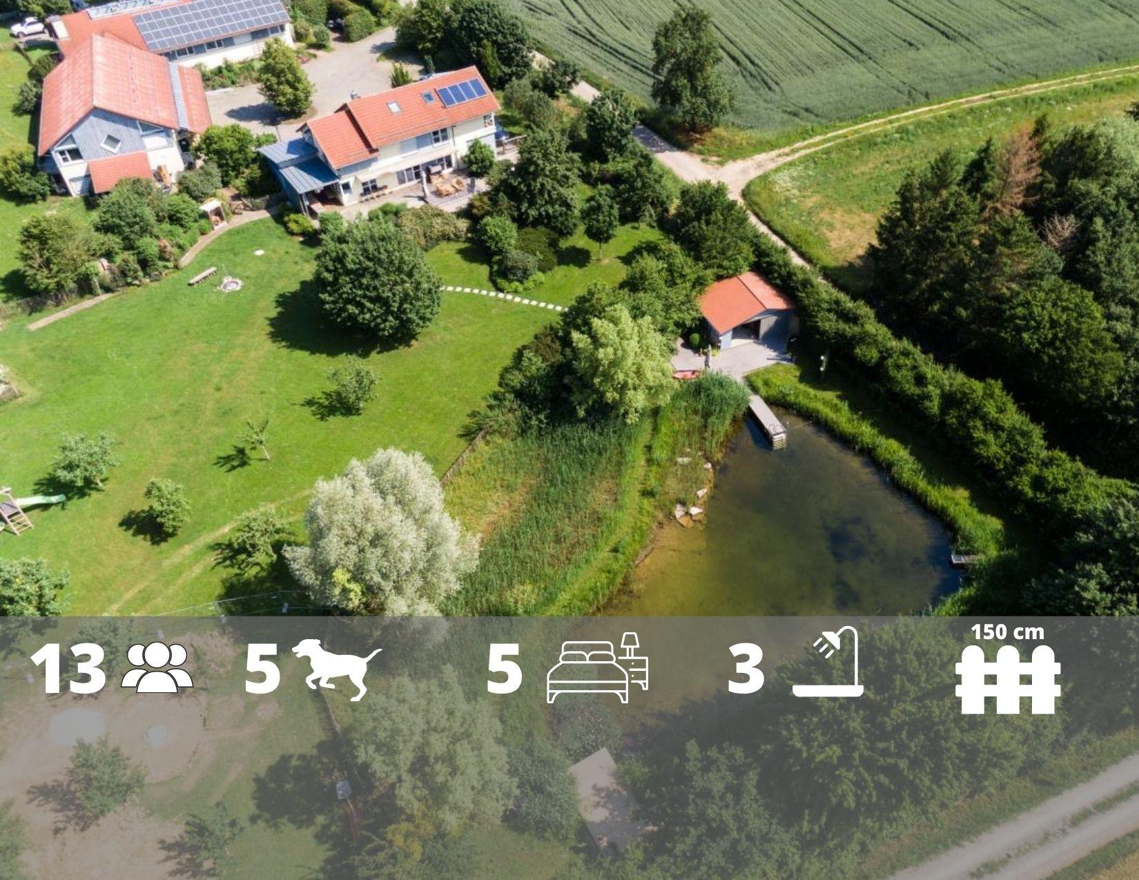 Ferienhaus Beim Viechdoktor in Crailsheim, See, Sauna, Zaun